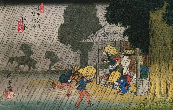Hiroshige_People_seeking_shelter_from_the_rain1