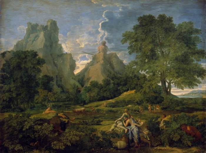 Landscape with Polifemus - Poussin