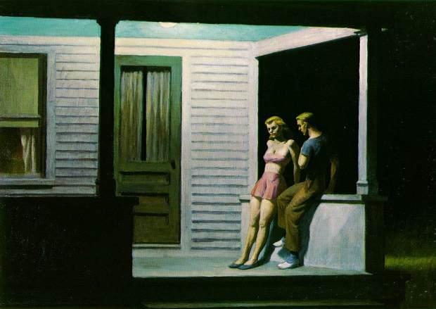 """""""Summer Evening"""" (1947) de Edward Hopper"""