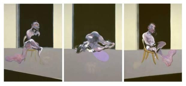 """""""Triptych - August 1972"""" (1972) de Francis Bacon"""
